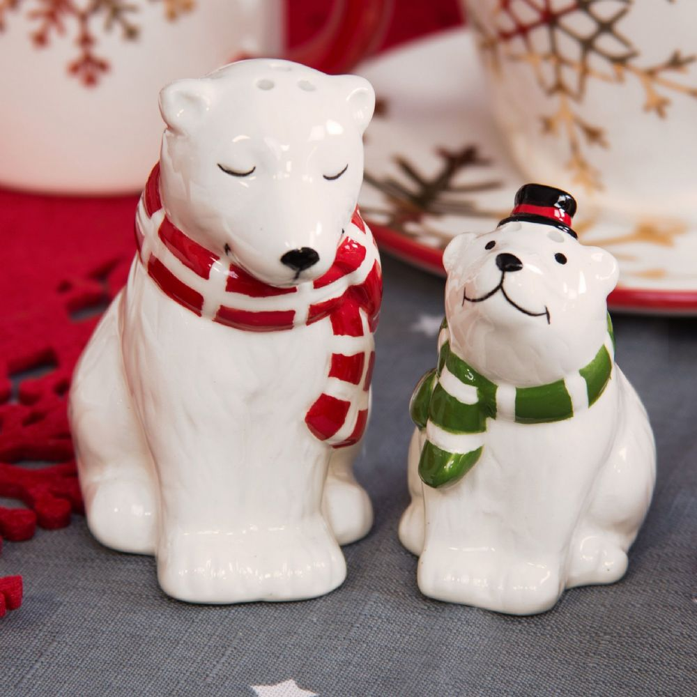 Polar Bears Salt & Pepper Shaker Animal Cruet Set